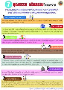 7 คุณธรรม จริยธรรม ในการทำงาน
